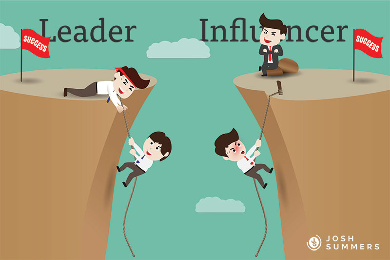 A leader vs an influencer.